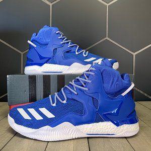 New W/ Box! Adidas D Rose 7 Primeknit NBA Blue